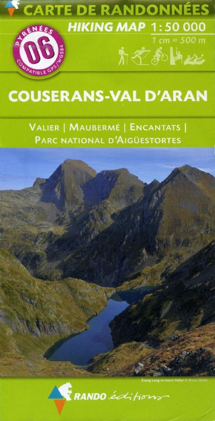 Rando Editions 1:50,000 Walking Map Of the Pyrenees Map 06 - Couserans